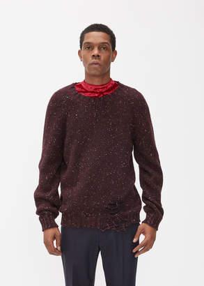 Maison Margiela Destroyed Donegal Crewneck Sweater