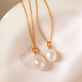 Monica Vinader Nura Small Pearl Pendant Charm