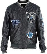 Dolce & Gabbana Grey Musical Patch Bomber Jacket