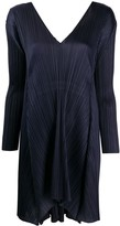 Pleats Please Issey Miyake long-sleeved pleated shift dress