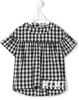 Mi Mi Sol - checked blouse - kids - Cotton/Polyester/Spandex/Elastane - 5 yrs