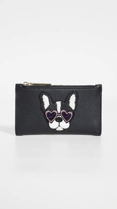 Kate Spade Beaded Antoinette Small Slim Bifold Wallet