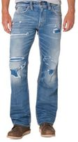 Silver Jeans Zac Straight-Leg Distressed Jeans