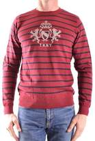 Tommy Hilfiger Men's Red Cotton Sweater.