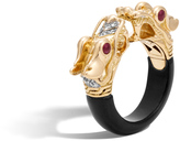 John Hardy Naga Ring with Black Onyx and Diamonds