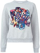 Salvatore Ferragamo logo patch sweatshirt - women - Silk/Cotton/Spandex/Elastane - M
