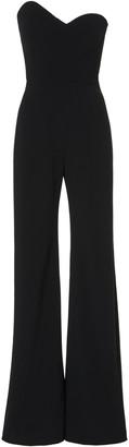 Brandon Maxwell Asymmetric Strapless Crepe Jumpsuit