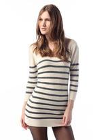 Kimchi Blue Lurex Stripe Sweater Tunic