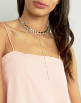 Asos Limited Edition Multi Row Bunting Toggle Choker Necklace