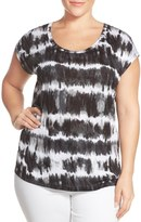 MICHAEL Michael Kors 'Boho Breakers' Elliptical Hem Top (Plus Size)