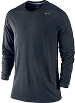 Nike Men's Legend Dri-FIT Poly Long Sleeve Shirt, Dark Obsidian, XL