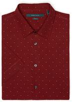 Perry Ellis Short Sleeve Slim Fit Polka Dot Shirt