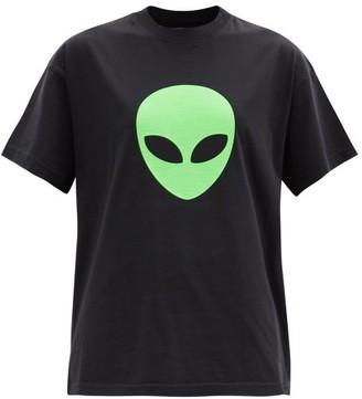 Balenciaga Alien-print Cotton-jersey T-shirt - Black Print