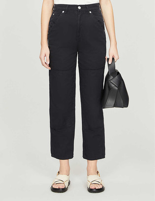 Whistles Cargo panel detail cotton-twill trousers