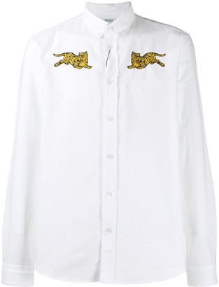 Kenzo tiger embroidered fitted shirt