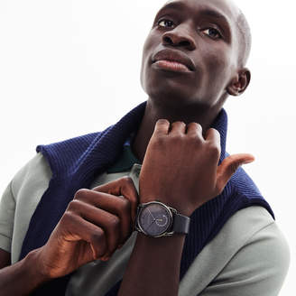Lacoste Mens Urban Watch with Black Leather Strap