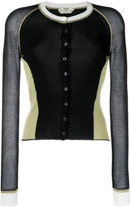 Fendi colour block cardigan
