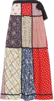 Miu Miu Panelled Floral Skirt