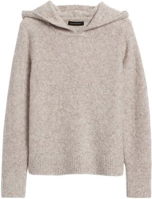 Banana Republic Petite Merino-Blend Cropped Sweater Hoodie
