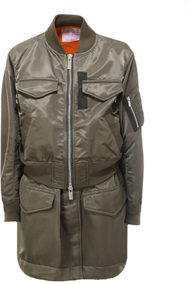 Sacai Layered Zipped Bomber Jacket