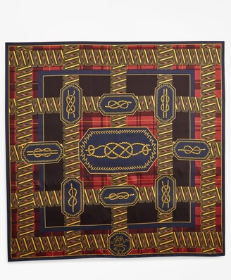 Brooks Brothers Knot-Print Silk Square Scarf