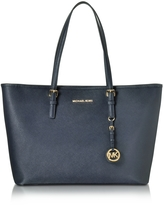 Michael Kors Admiral Jet Set Travel Saffiano Leather Medium T Z Tote