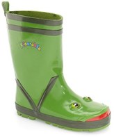 Kidorable Boy's 'Frog' Waterproof Rain Boot
