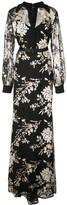 Badgley Mischka floral maxi dress