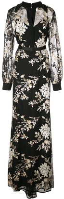 Badgley Mischka Floral Maxi Dress