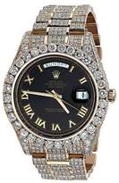 Rolex 18K Rose Gold Diamond Iced Out 41mm Watch