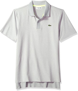 Lacoste Men's Short Sleeve Jersey Aspect Chine with Jacquard Collar Polo DH3316