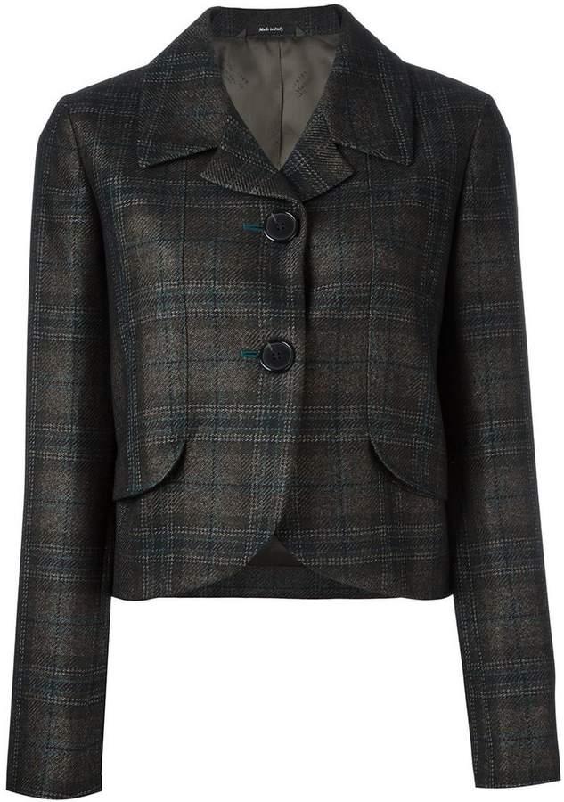 Maison Margiela checked cropped jacket