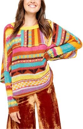 Free People December Skies Knit Poncho