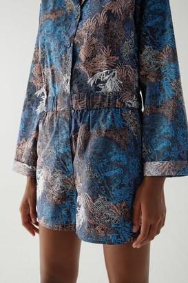 Cos Cotton Printed Pajama Shorts