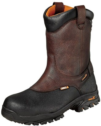 """Thorogood Men's 804-4810 Crossover Series Waterproof 8"""" Black Armor Coated Pull-On Wellington Composite Safety Toe Boot"""