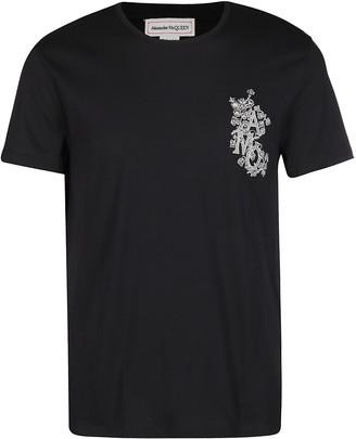 Alexander McQueen Monogram Crewneck T-Shirt