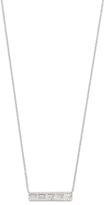 Ef Collection Diamond White Topaz Baguette Bar Necklace