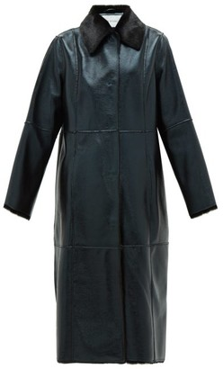Stand Studio Nino Single-breated Reverse Faux-shearling Coat - Black