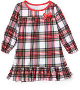 Red & White Plaid Bow Nightgown - Toddler & Girls