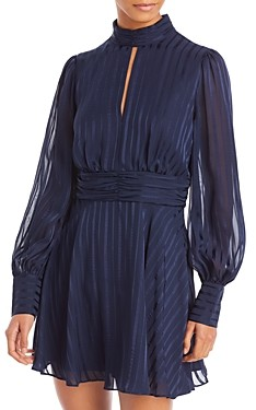 Aqua Striped Mock Neck Mini Dress - 100% Exclusive