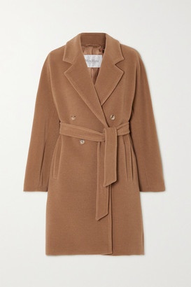 Max Mara Belted Double-breasted Camel Hair And Wool-blend Coat - UK16