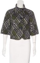 Trina Turk Abstract Print Knit Jacket