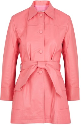The Mighty Company The Somerset Pink Leather Jacket