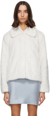 Stand Studio Off-White Faux-Fur Marcella Koba Jacket