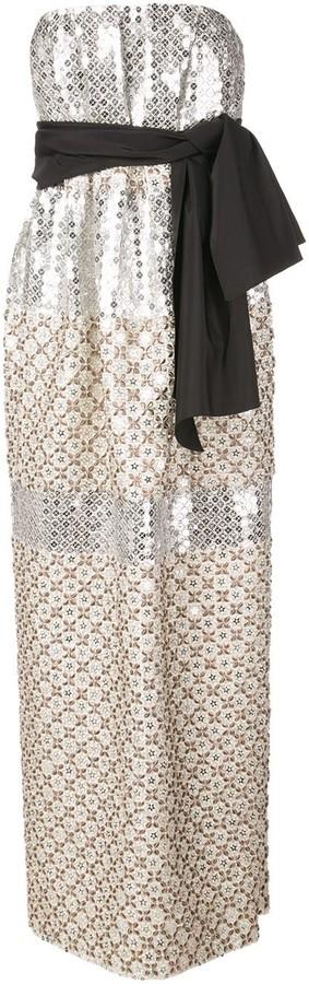 Carolina Herrera strapless bow-embellished dress