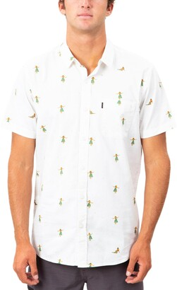 Rip Curl Hula Print Short Sleeve Button-Up Shirt