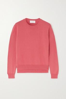 ALEXANDRA GOLOVANOFF Francoise Cotton And Silk-blend Sweater - Blush
