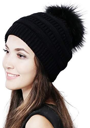 855c70aeaecfe6 Women's Black Knit Bobble Hat - ShopStyle Canada