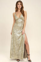 LuLu*s Disco Days Gold Maxi Dress