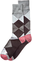 Perry Ellis Men's Heathered Argyle Dress Socks